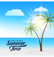 beautiful summer paradise beach scene background vector image