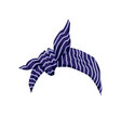 blue bandana with striped pattern and bow - female vector image vector image