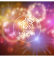 blurred holiday firework background vector image vector image