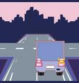 cargo truck design vector image