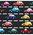 cars on the road vector image vector image
