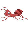 cartoon happy ant vector image vector image