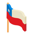chile flag icon isometric style vector image vector image