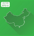 china map icon business concept china line map vector image vector image