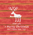 Christmas funny deer vector image vector image