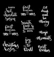 christmas hand drawn lettering design set vector image vector image