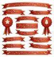 christmas ribbons vector image vector image