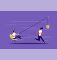 creative concept boss use worker as slavery vector image