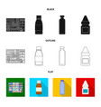 design of retail and healthcare symbol set vector image vector image