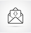 email flat line trendy black icon eps10 vector image vector image