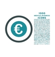 Euro Coin Rounded Icon with 1000 Bonus Icons vector image vector image