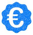 euro reward seal grunge icon vector image vector image