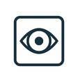 eye icon Rounded squares button vector image vector image