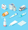 first aid kit medical pharmacy oral spray vector image