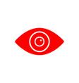 flat line eye icon vector image vector image