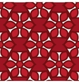 Floral seamless pattern red color vector image vector image