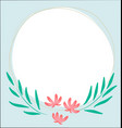 flowers decorated white circular frame vector image vector image