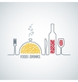 food and drink background vector image vector image