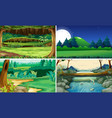 four nature scenes day and night vector image vector image