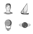 give business sport and other monochrome icon in vector image vector image