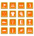 golf items icons set orange vector image vector image