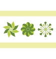 green flowers set 1 eps8 vector image vector image