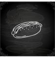 Hand Drawn Hotdog vector image