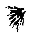 hand drawn silhouette of water splash vector image