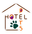 hotel icon for pets on a white background vector image vector image