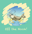 Idiom off the hook vector image vector image