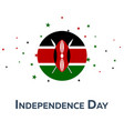 independence day of kenya patriotic banner vector image