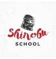 Japanese Ninja school Logo Shinobu warrior vector image