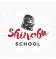 Japanese ninja school logo shinobu warrior