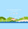 landscape error page vector image vector image