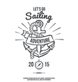 Lets go Sailing Anchor with Banner vector image vector image