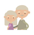 light coloe silhouette of half body couple elderly vector image
