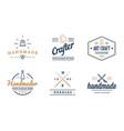 logo design handmade diy craft tailoring vector image