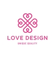 Love heart sign design template logo flat style vector image vector image