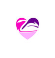 love swan logo design concept vector image vector image