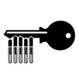 magnetic key icon simple style vector image vector image