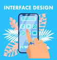 Mobile interface design flat banner concept