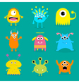monster big set cute cartoon scary character baby