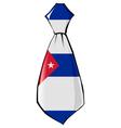 necktie in national colours of Cuba vector image