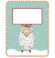new year with cute sheep vector image vector image