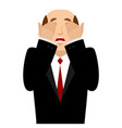 omg boss facepalm oh my god businessman is vector image vector image