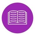 Open book line icon vector image vector image