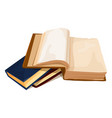 pile books 3d color vector image