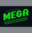 pixel font design stylized like in 8-bit vector image vector image