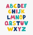 positive colorful alphabet for children vector image vector image