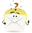 question by email icon vector image